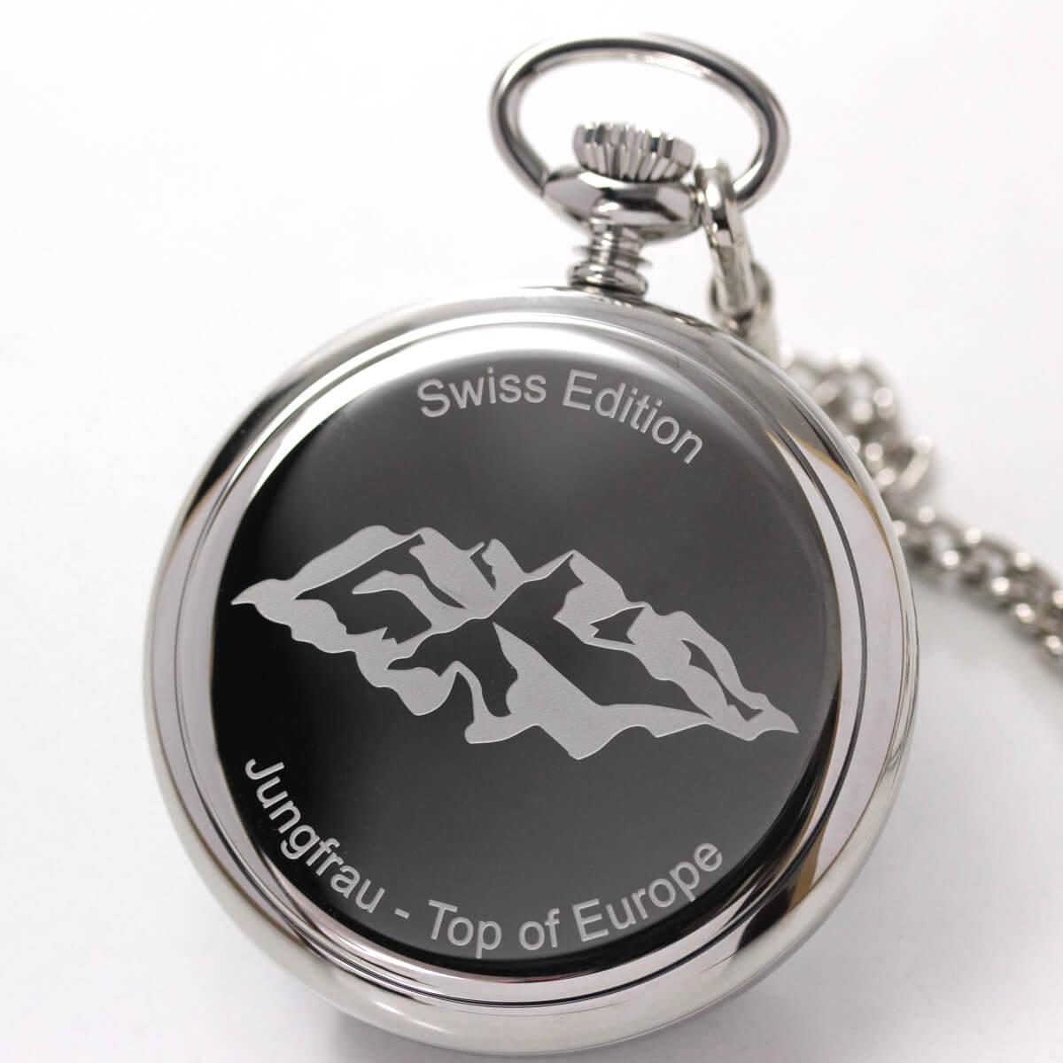 時計の裏蓋にユングフラウの刻印