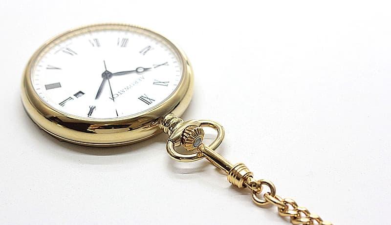 3時方向デイトカレンダー 懐中時計