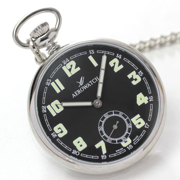 スモールセコンドがついたAERO(アエロ)手巻き式懐中時計 50616 aa06