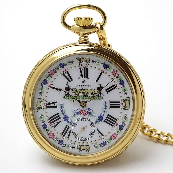 アエロ(AERO)手巻き式 懐中時計 50618J501
