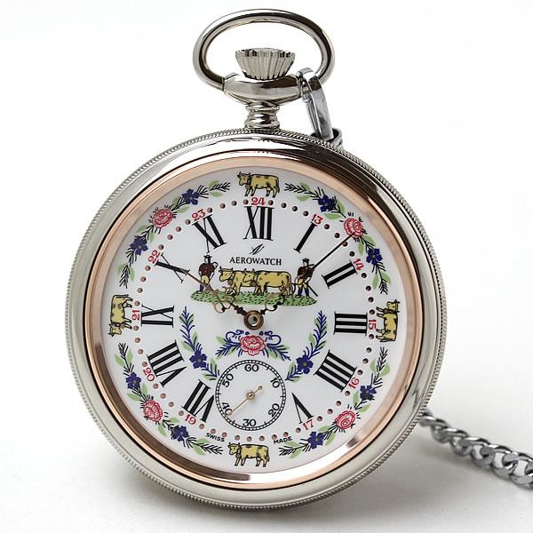 アエロ(AERO)手巻き式 懐中時計 50618NI01
