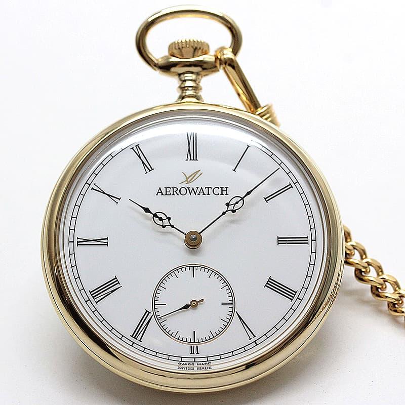 アエロ(AERO) オープンフェイス 手巻き式 50827JA01 懐中時計