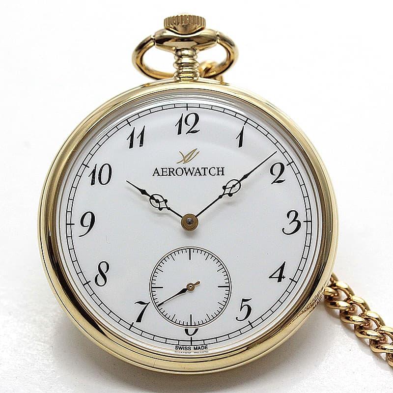アエロ(AERO) オープンフェイス 手巻き式 50827JA02 懐中時計