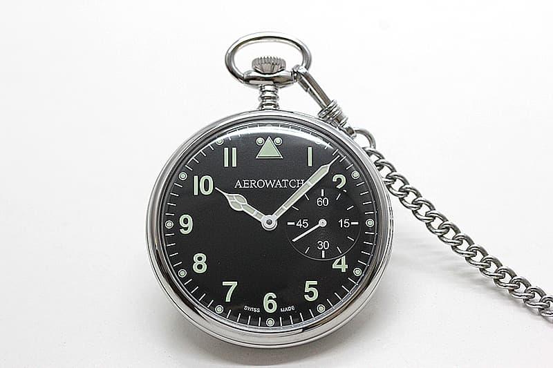 アエロ(AERO) ミリタリーデザイン 手巻き式 50827PD02 懐中時計
