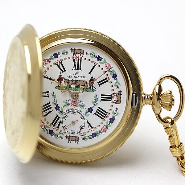 アエロ(AERO)手巻き式 懐中時計 55626J501