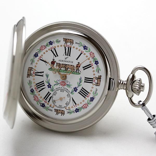 アエロ(AERO)手巻き式 懐中時計 55626NI01