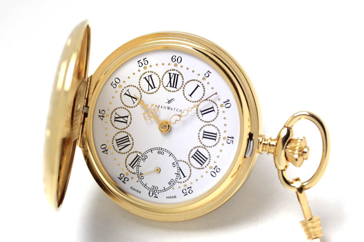 55644j501 aero アエロ 懐中時計 蓋付き