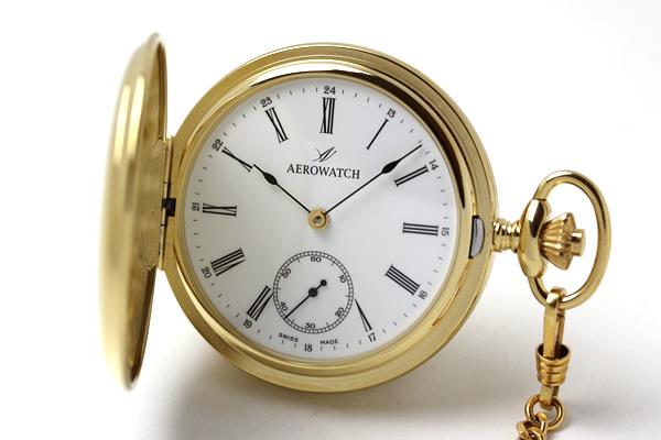 アエロ AERO ゴールドカラー 懐中時計