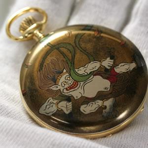 蒔絵提げ時計