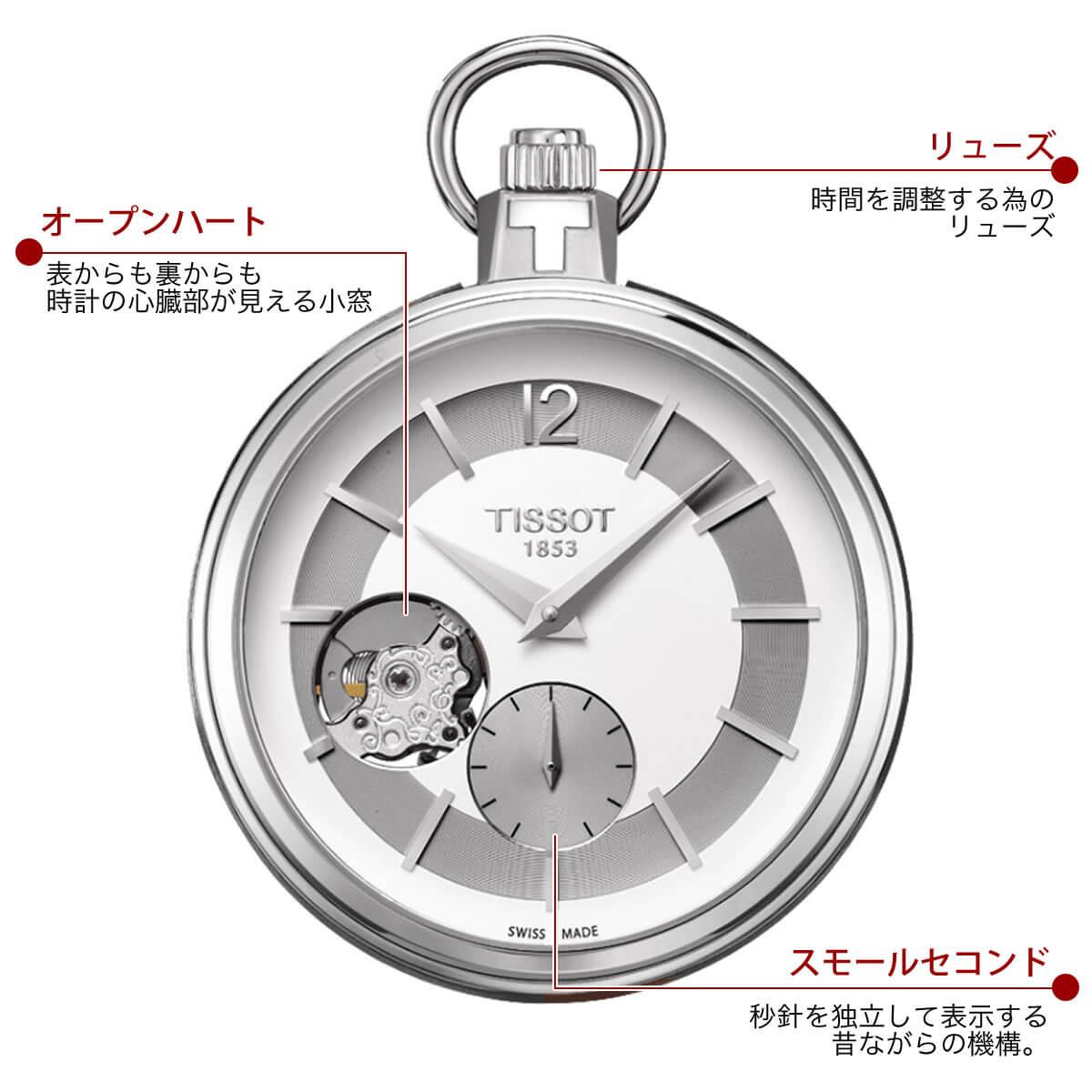 ティソ 懐中時計 t8544051903701