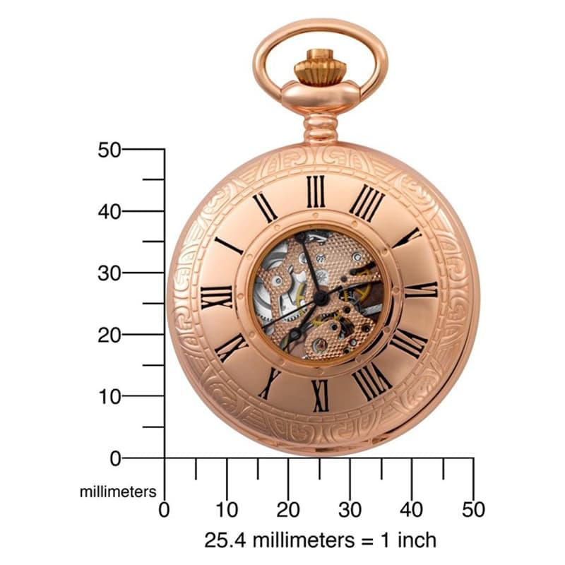 Charles-Hubert(チャールズヒューバート)懐中時計 手巻き式 お手頃なサイズ