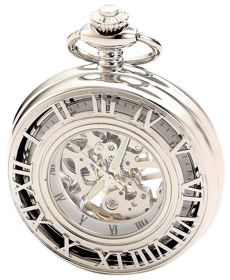 ローマン数字の懐中時計