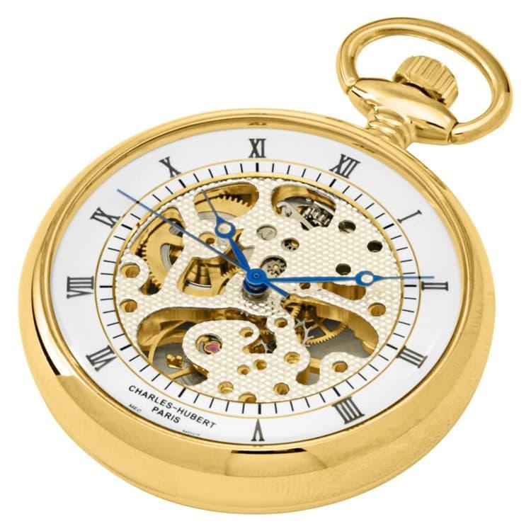 Charles-Hubert(チャールズヒューバート)懐中時計 手巻き式 お手頃価格の懐中時計