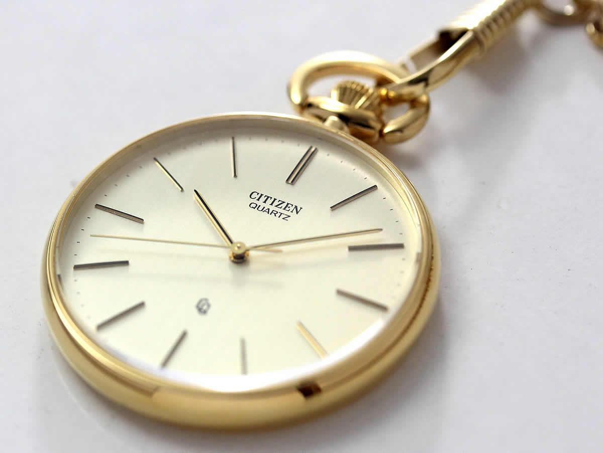 文字入れ刻印が可能な懐中時計
