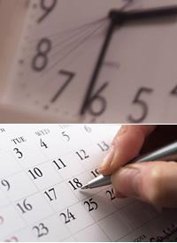時計やカレンダー