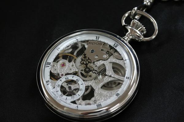 機械式エポス懐中時計