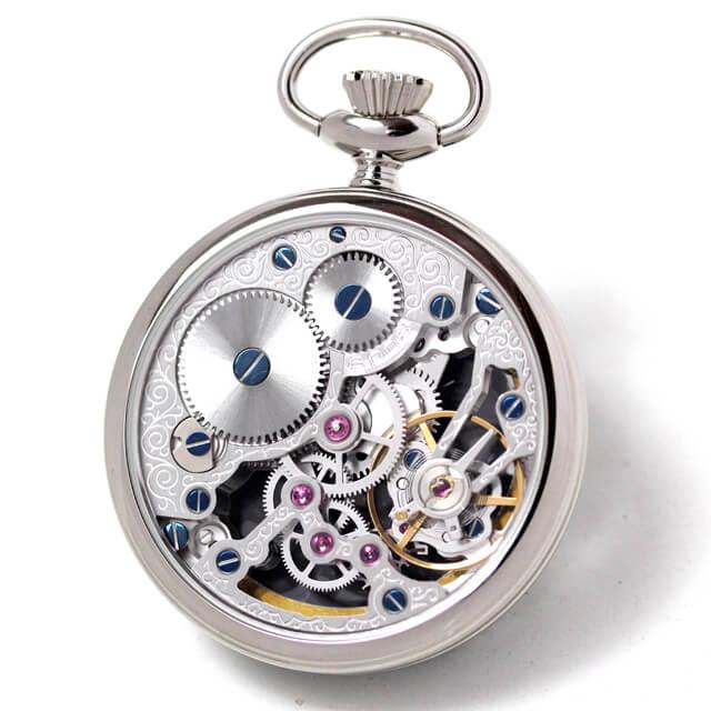 エポス epos 小ぶりな懐中時計 機械式 フルスケルトン