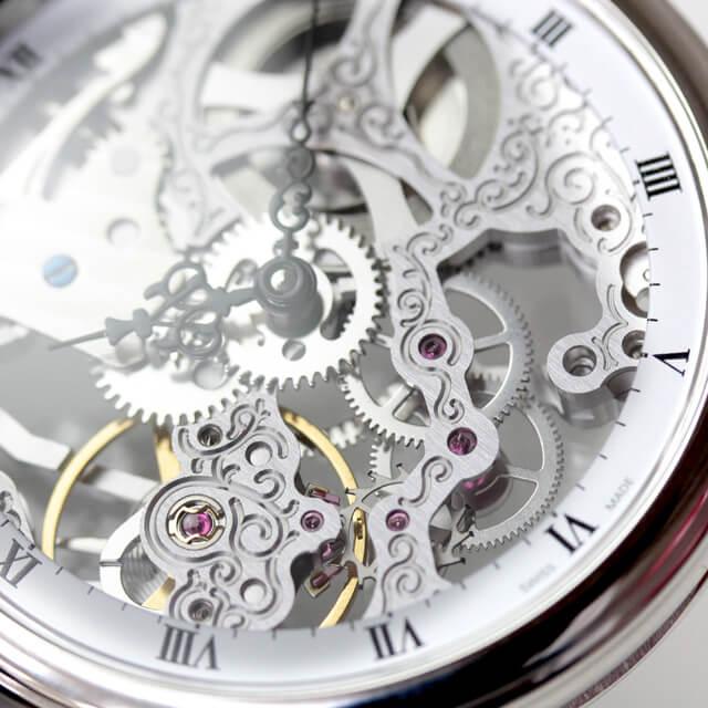 小ぶりな懐中時計 機械式 フルスケルトン エポス epos