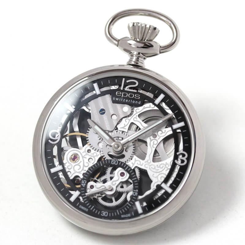 EPOS(エポス) フルスケルトン懐中時計 2003abk