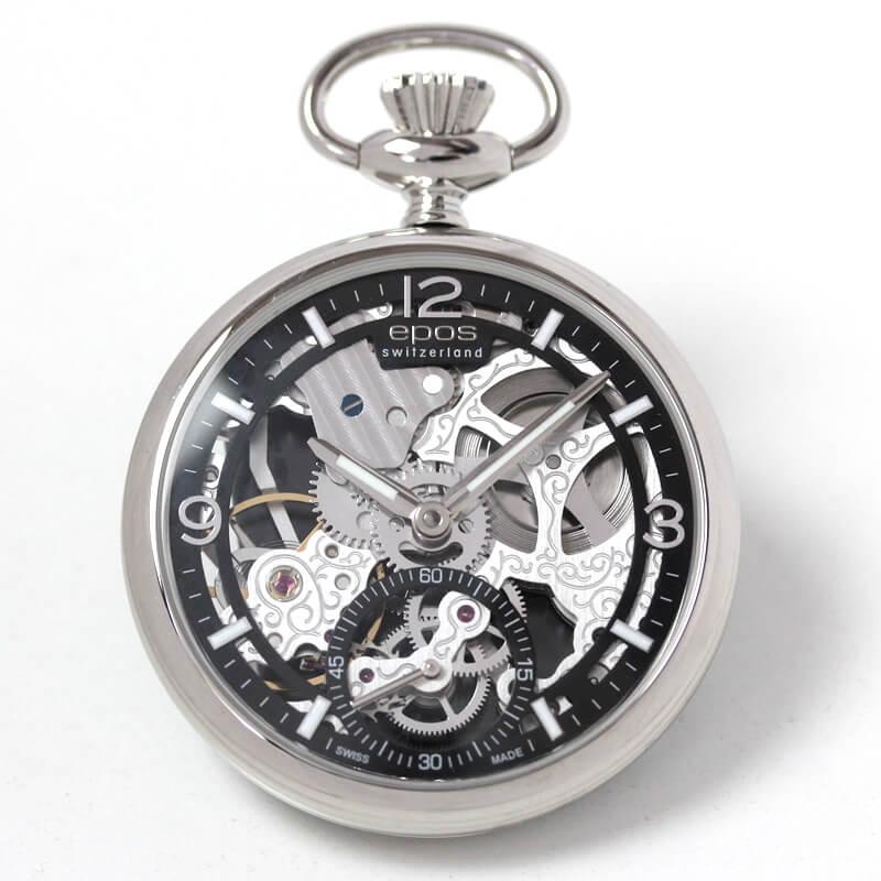EPOS(エポス) フルスケルトン懐中時計 2003abk 表