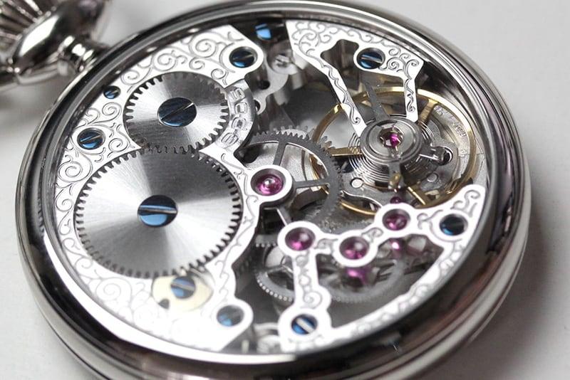 エポス フルスケルトン懐中時計 2003agr スケルトン部分アップ