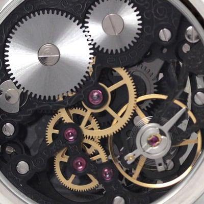 EPOS(エポス) フルスケルトン懐中時計 2003SKBK 裏側
