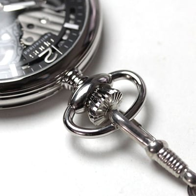EPOS(エポス) フルスケルトン懐中時計 専用チェーン付き