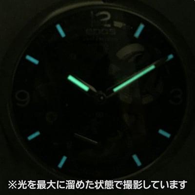EPOS(エポス) フルスケルトン懐中時計 2003SKBK 蓄光画像