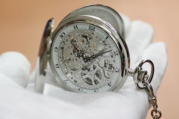 スケルトン懐中時計