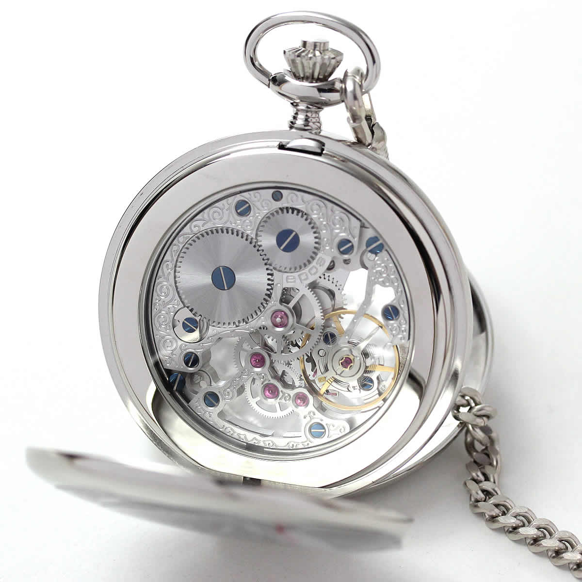 文字入れ刻印もできる懐中時計です。