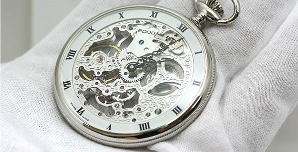 スケルトン 懐中時計