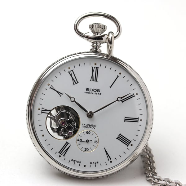 エポスepos懐中時計のシースルーバック