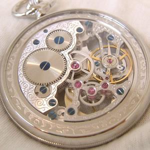 スケルトンウォッチ 懐中時計