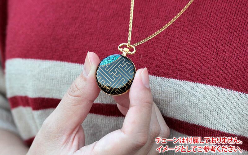 小型 懐中時計 japan(ジャパン) ゴールドカラー アラビア数字の文字盤