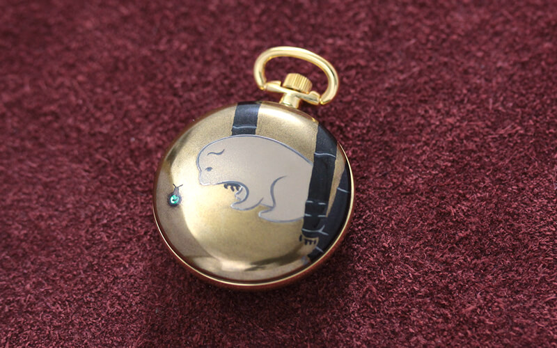 伝統工芸品 蒔絵 懐中時計 japan(ジャパン)