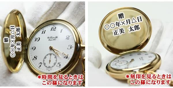 懐中時計 刻印場所 無地のハンターケース 正美堂時計店