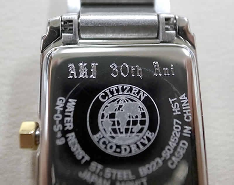 時計ドイツ花文字刻印サンプル2
