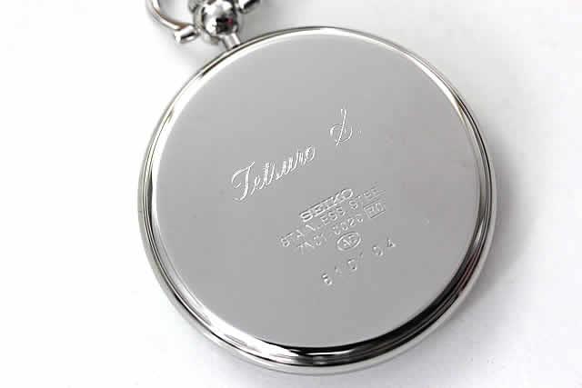 女性へのプレゼントに、お名前を英語で刻印した例