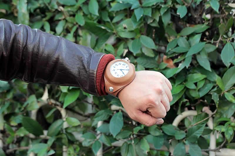 懐中時計用 腕時計 ベルト キャメル