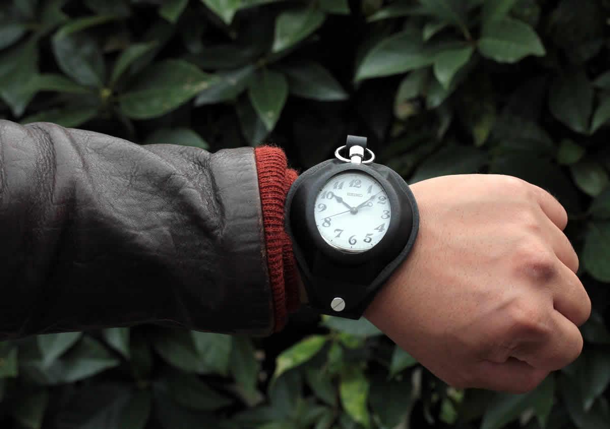 懐中時計用 腕時計 ベルト 茶