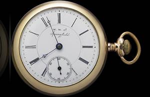 1880年代に製作された当時の懐中時計