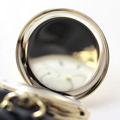 rapport(ラポート) 懐中時計 スモールセコンド 両蓋 手巻き式懐中時計 pw10 蓋の内側 ゴールドカラー 鏡面仕上げ