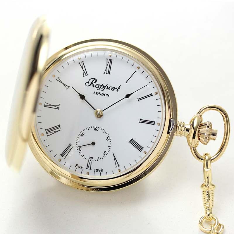 rapport(ラポート) 懐中時計 スモールセコンド 両蓋 手巻き式懐中時計 pw10 2018年新作