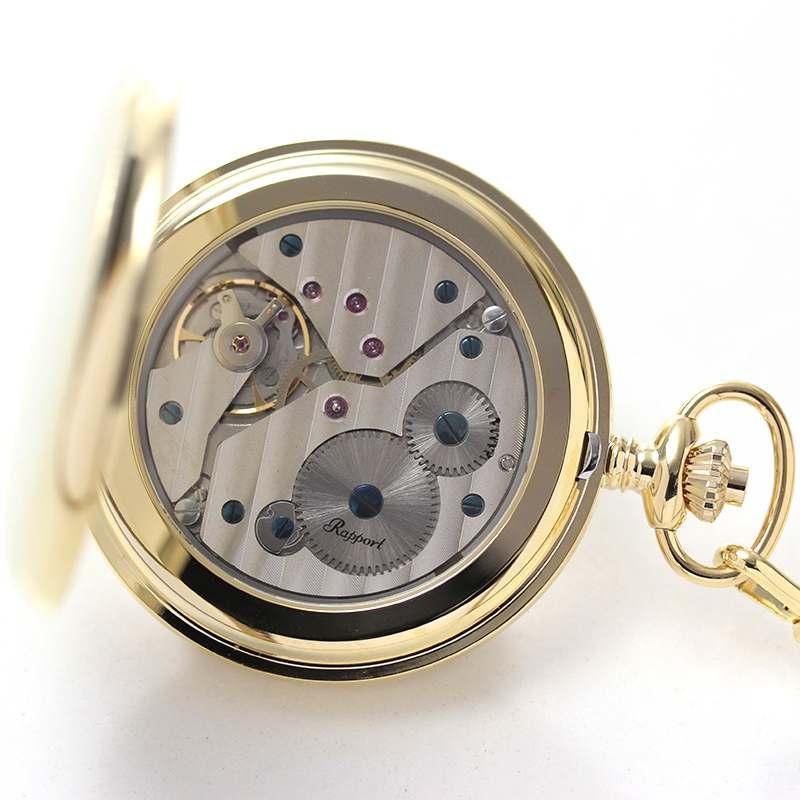 rapport(ラポート) 懐中時計 スモールセコンド 両蓋 手巻き式懐中時計 pw10 シースルーバック スケルトン