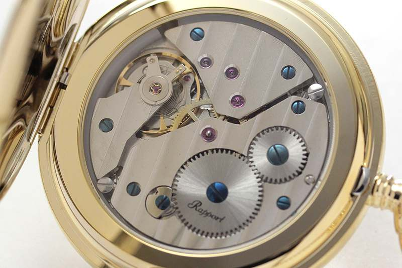 rapport(ラポート) 懐中時計 スモールセコンド 両蓋 手巻き式懐中時計 pw10