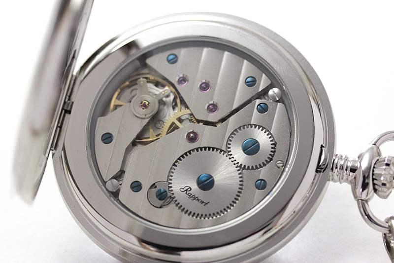rapport(ラポート) 懐中時計 スモールセコンド 両蓋 手巻き式懐中時計 pw11