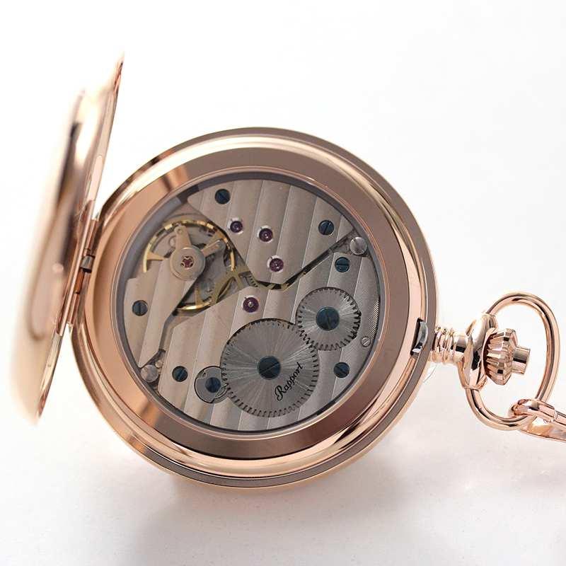 rapport(ラポート) 懐中時計 スモールセコンド 両蓋 手巻き式懐中時計 pw12 シースルーバック スケルトン