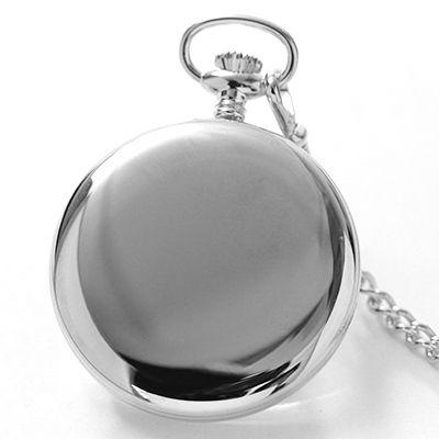 鏡面仕上げのケース 懐中時計の後ろ側
