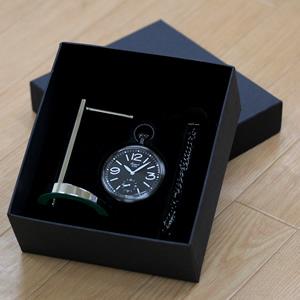 ラポート懐中時計 pw35 専用ボックス スタンドとチェーン付き