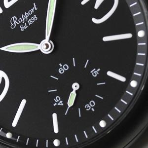 ラポート懐中時計 pw35 スモールセコンド 黒文字盤